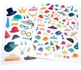 120 autocollants stickers accessoires vestimentaires