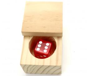 Mini boite cube en bois 5 x 5 x 4.5 cm