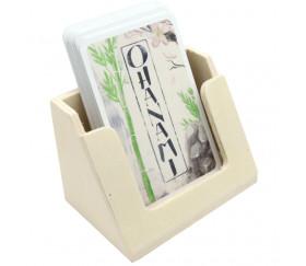Distributeur de cartes à jouer en bois 90 x 60 x 65 mm
