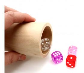 Pot à crayons en bois naturel 9 x 6 cm