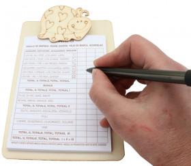 Porte bloc - mini écritoire à pince 12 x 18 cm coccinelle (support pour noter)