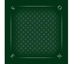 Tapis jeu 60 x 60 cm vert tramé Tarot