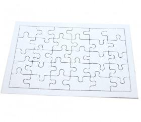 10 Puzzles carton blanc 30 pièces à personnaliser 20 x 13 cm