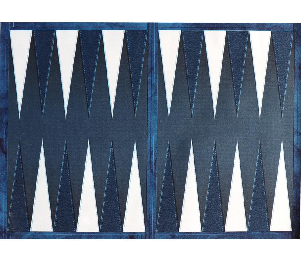 Tapis de jeu Backgammon bleu 64 x 47 cm (sans les pions)