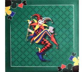 Tapis jeu Tarot 60 x 60 cm Joker vert