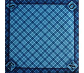 Tapis jeu 60 x 60 cm Tarot bleu écossais Nord Sud Est OUest