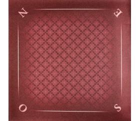 Tapis jeu 60 x 60 cm Tarot rouge tramé Nord Sud Est OUest