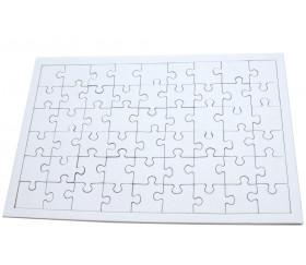 Puzzle carton blanc 54 pièces à personnaliser 24 x 16 cm