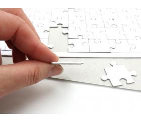 10 Puzzles carton blanc 54 pièces à personnaliser 24 x 16 cm