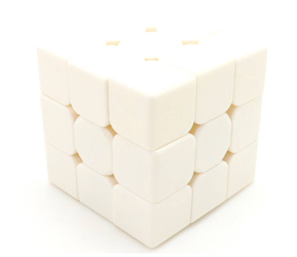Cube magique 3x3x3 blanc 5.5 cm à personnaliser jeu de patience 6 faces