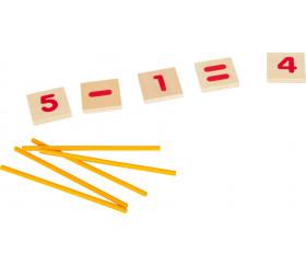 Boite de plaques et baguettes pour additions et soustractions
