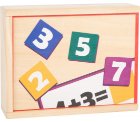 Jeu de maths en bois additions et soustractions