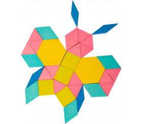 Tangrams en bois mosaïques colorées 250 pièces