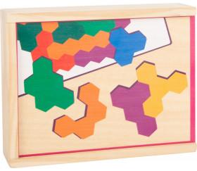 Puzzle en bois casse tête hexagone