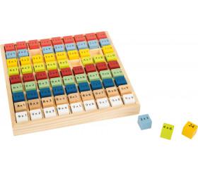 Multiplication - table de calcul bois multicolore