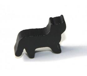 Pion Chat noir en bois pour jeu