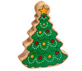 Sapin de Noël en bois 125 x 94 x 25 mm