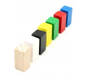 Pion rectangle 10x10x20 mm en bois pour jeu à l'unité