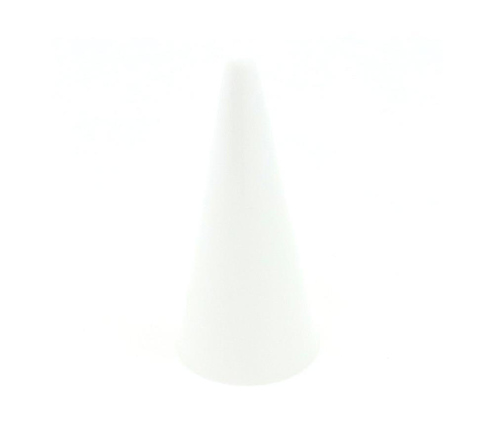 Pion cône plastique 15 x 35 mm jeu à l'unité blanc