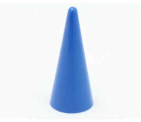 Pion cône plastique 15 x 35 mm jeu à l'unité bleu