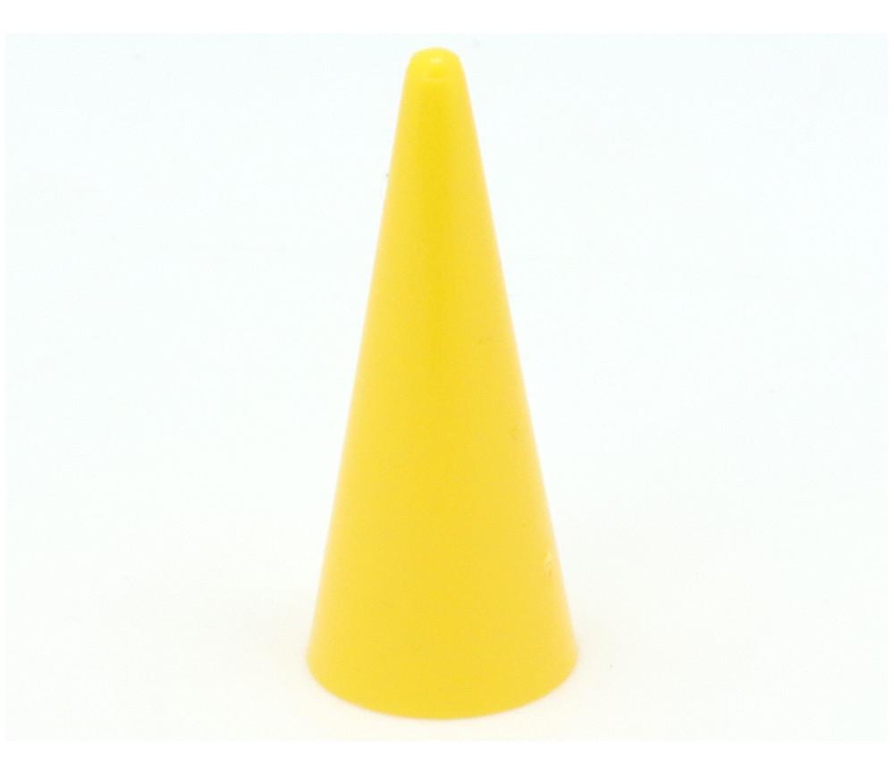Pion cône plastique 15 x 35 mm jeu à l'unité jaune