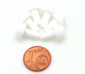 6 pions forme champignon blanc à encastrer 15 x 9.5 mm blancs