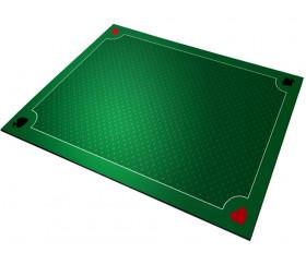 Tapis jeu 70 x 60 cm Vert Classique 4 coins : As Pique Coeur trèfle