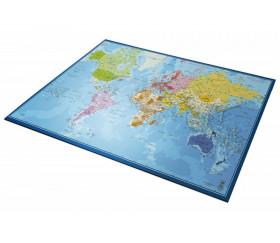 Tapis de Jeu Bureau Gaming 100 x 60 cm Carte du monde