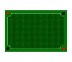 Tapis jeu 40 x 60 cm Vert Classique 4 coins : Pique coeur trèfle carreau