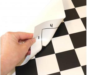 Echiquier vinyl enroulable 51x51 cm noir et blanc