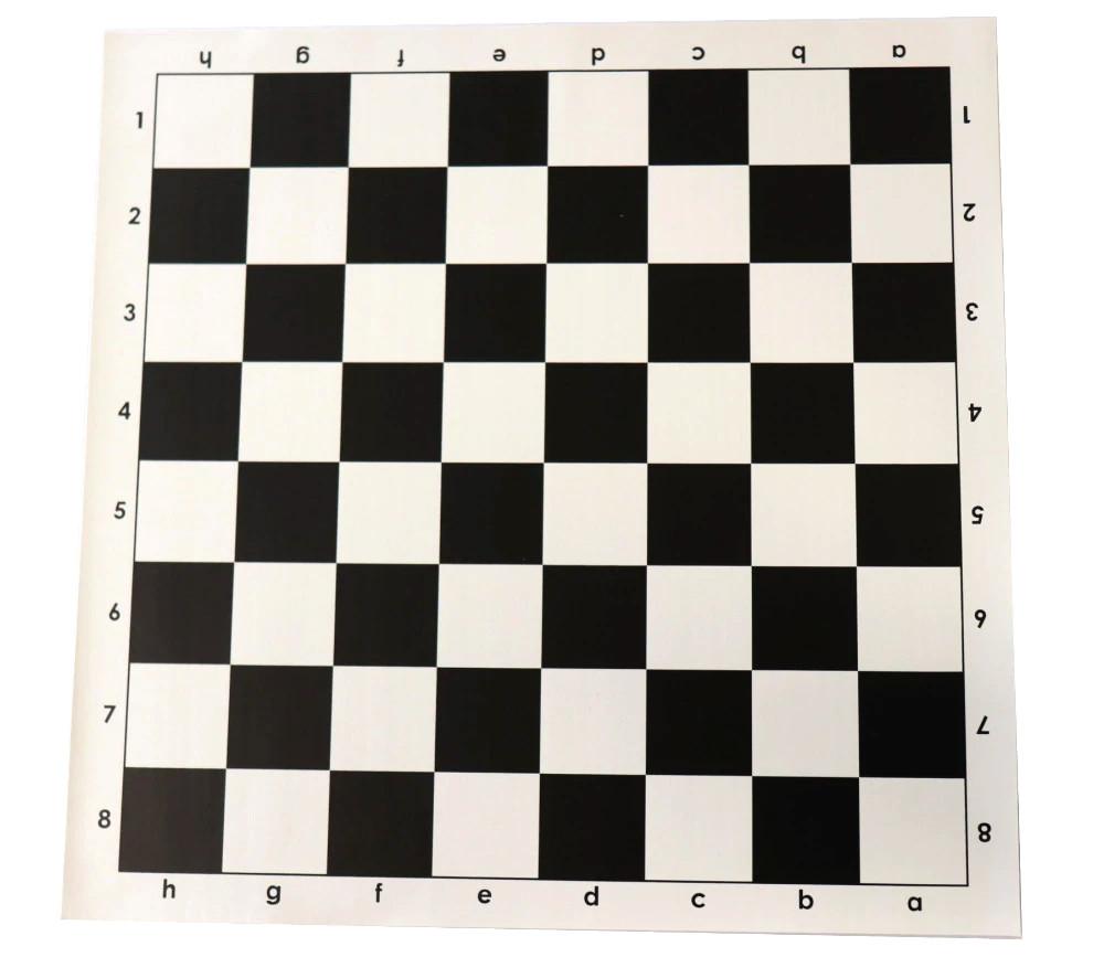 Echiquier enroulable 51x51 cm noir et blanc pour échec
