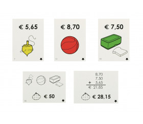 """Coffret Cartes calcul euros """"allons faire les courses"""" nombres décimaux"""