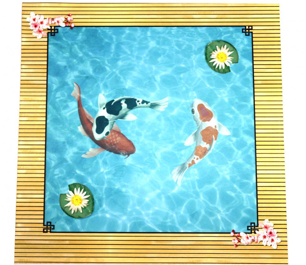 Tapis Multijeux 60x60 cm bassin japonais