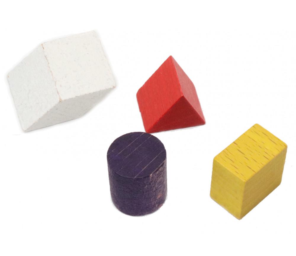 Lot 4 mini formes géométriques bois