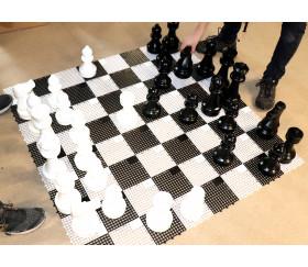 Echiquier ou damier géant jardin case 15,5 cm plateau échecs