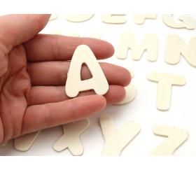 26 lettres alphabet en bois naturel 35 mm