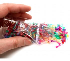500 pions picots clous translucides 16 mm