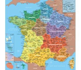 Puzzle bois Carte de France des Départements 100 pièces