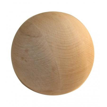 Boule 12 cm diamètre hêtre. Grosse boule bois