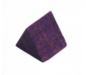 Prisme Triangle en bois violet - tente 17 x 15 x 15 mm