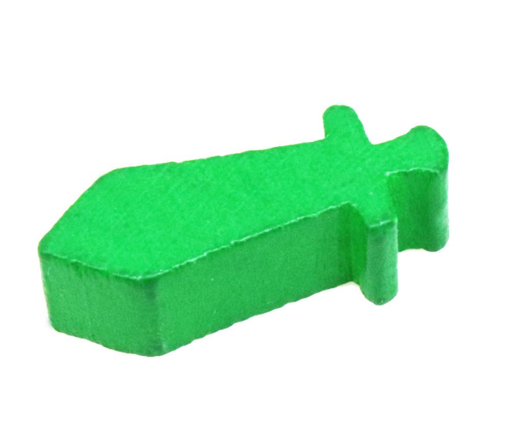 Pion épée en bois vert 24 x 8 X 8 mm arme