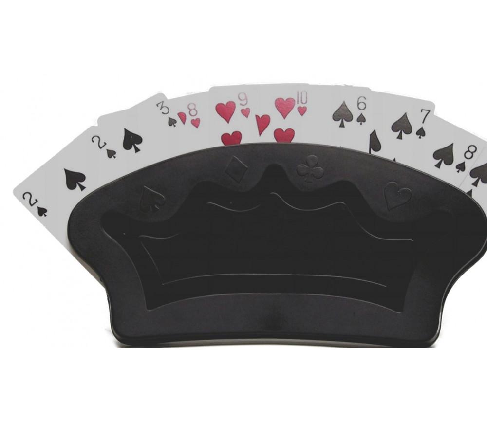 Repose cartes à jouer courbe noir