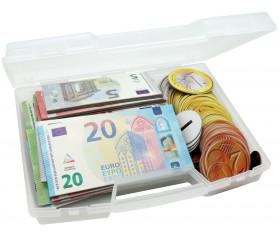 Valisette 100 pièces et billets euros magnétiques