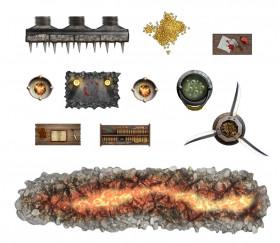 100 Stickers repositionnables décorations plateaux de jeux Battle Mat