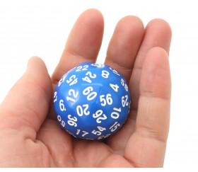 Dé 60 faces bleu D60 de jeu