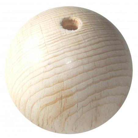 Boule trouée 8 cm diamètre hêtre