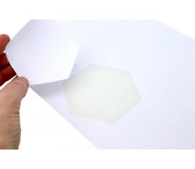 6 jetons hexagones 45 mm blancs à imprimer sur feuille prédécoupée