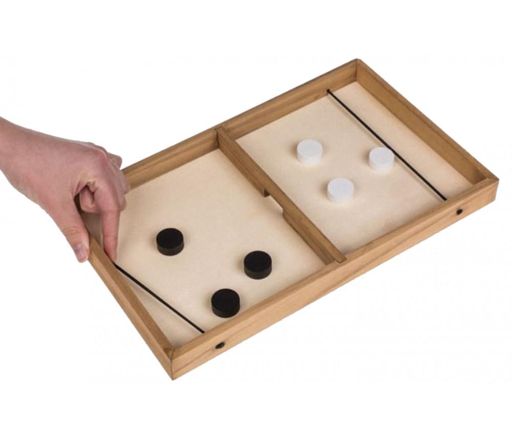 Jeu Puck Game hockey sur plateau en bois 35 x 21 cm