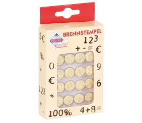 16 Pointes pyrograveur chiffres et signes maths