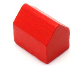 Pion maison bois style monopoly rouge
